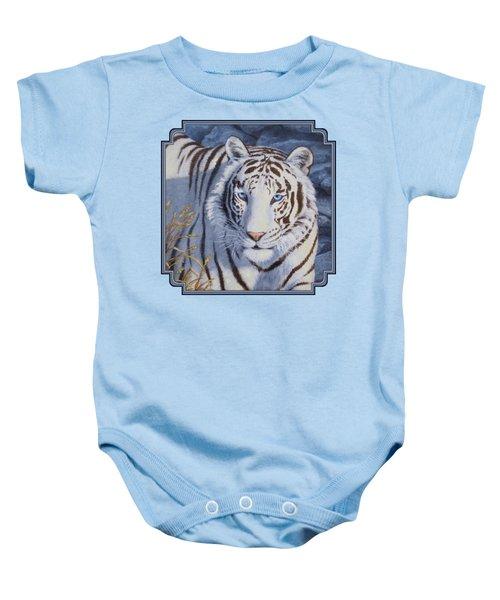 White Tiger - Crystal Eyes Baby Onesie