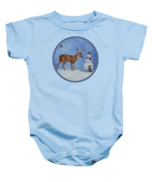 Whose Carrot Seasons Greeting Baby Onesie by Crista Forest