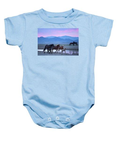 Wild Horse Sunrise Baby Onesie
