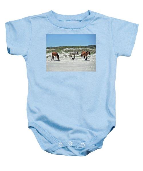 Wild Horses On The Beach Baby Onesie