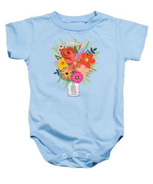Wildflower Bouquet Baby Onesie