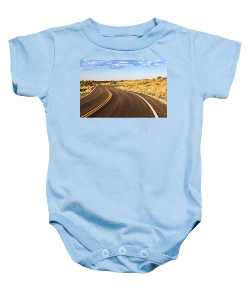 Winding Desert Road At Sunset Baby Onesie