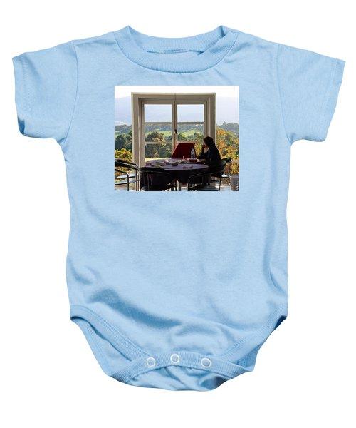 Window To The World Baby Onesie
