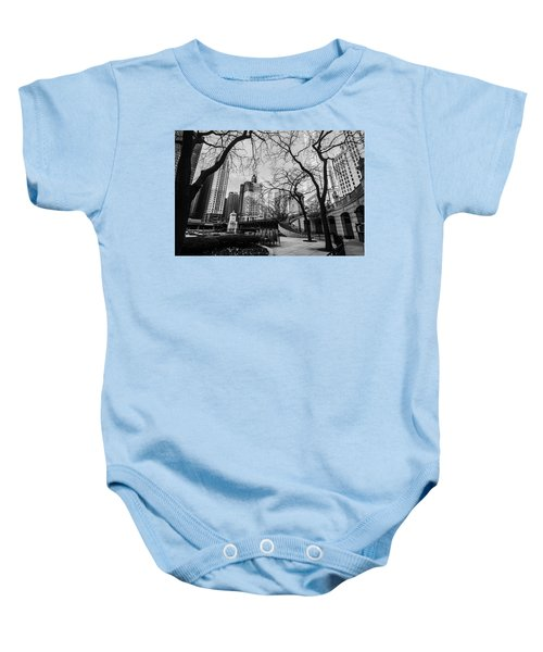 Windy Mornings In The Chi  Baby Onesie