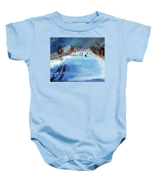 Winter In The Netherlands Baby Onesie