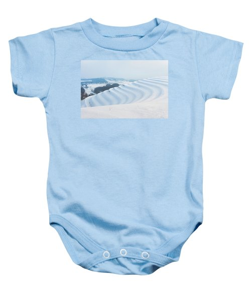 Winter Lines Baby Onesie