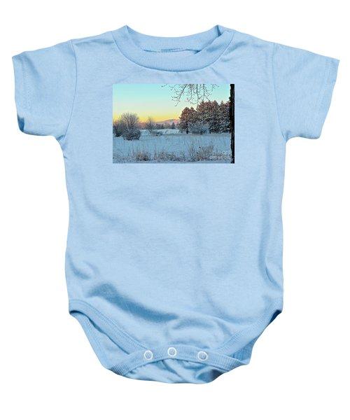 Winter On The Tree Farm Baby Onesie