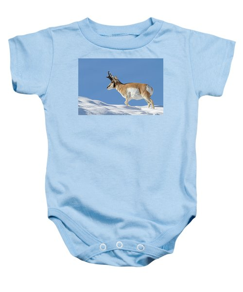 Winter Pronghorn Buck Baby Onesie