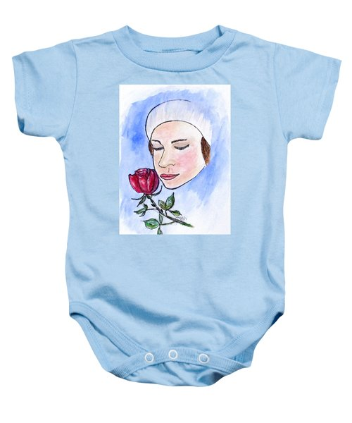 Winter Rose Baby Onesie