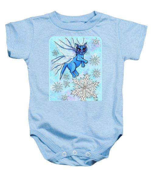 Winter Snowflake Fairy Cat Baby Onesie