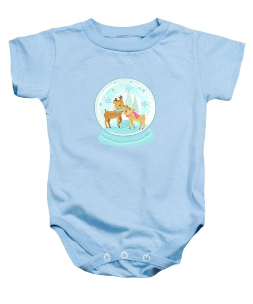 Winter Wonderland Snow Globe Baby Onesie