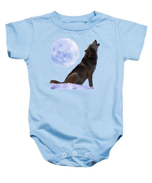 Wolf Howling Baby Onesie