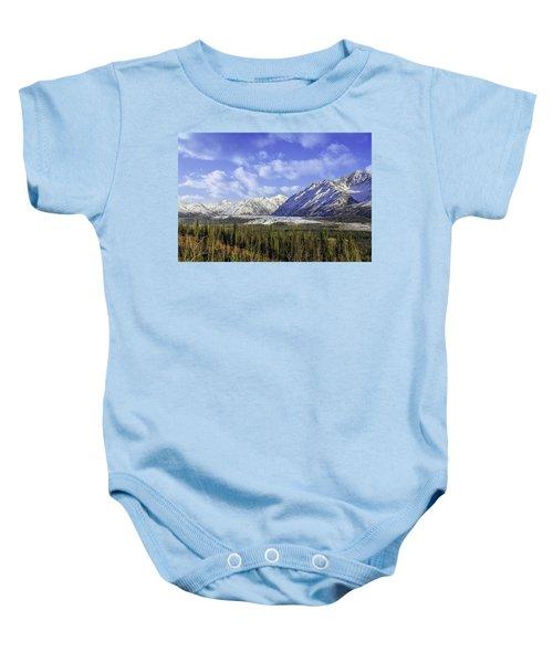Wrangell Mountains Glacier Alaska Baby Onesie