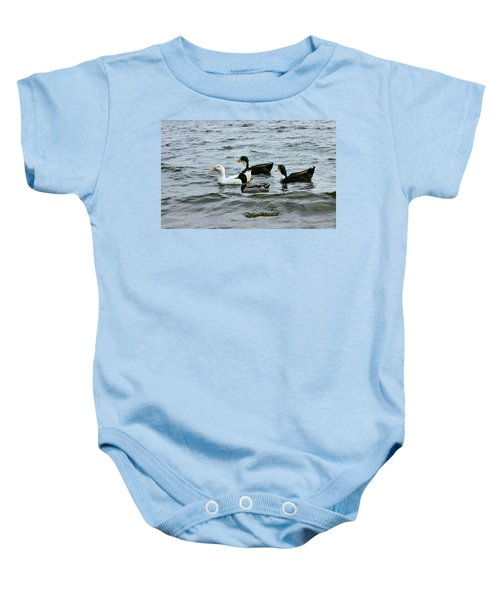 Yak Yak Yak One In Every Crowd Baby Onesie by Kristin Elmquist