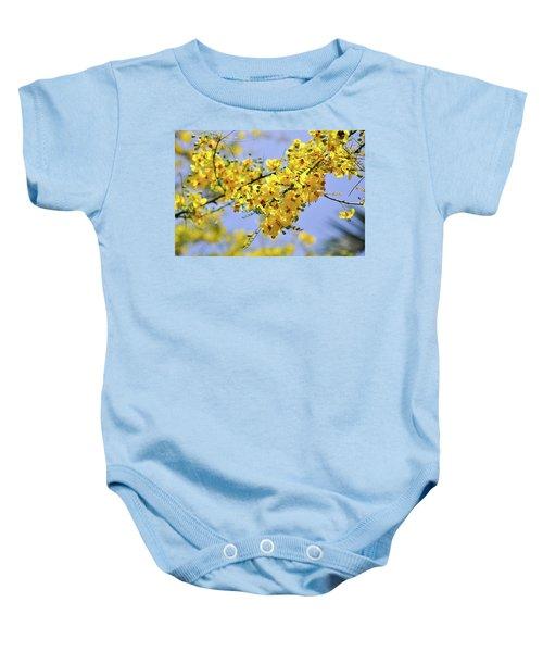 Yellow Blossoms Baby Onesie