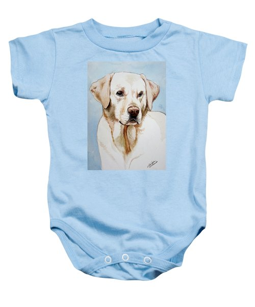 Yellow Lab Baby Onesie