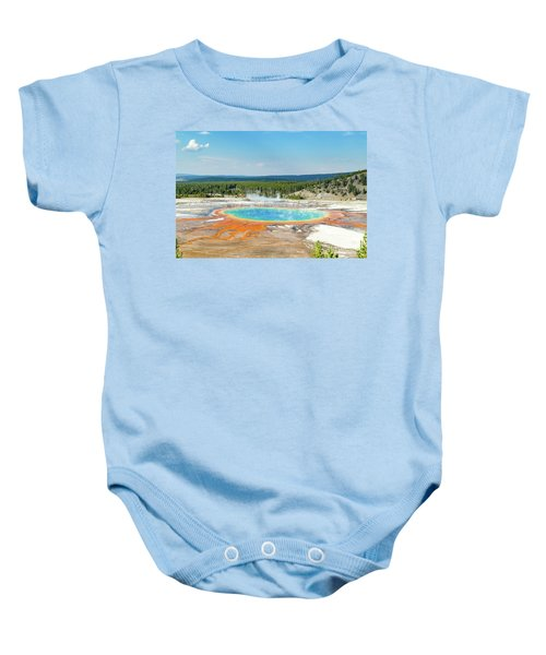 Yellowstone Grand Prismatic Spring  Baby Onesie