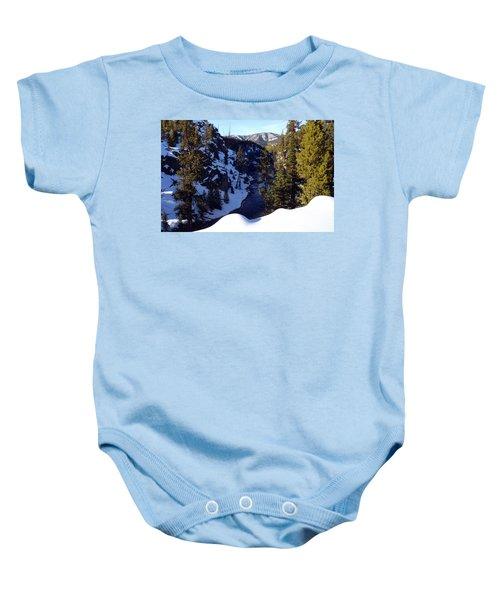 Yellowstone In Winter Baby Onesie
