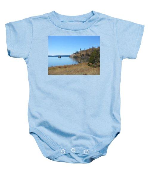 Yellowstone Lake Se Baby Onesie