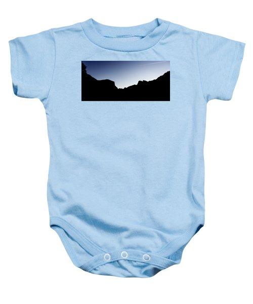 Yosemite In Silhouette Baby Onesie