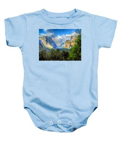 Yosemite Valley Baby Onesie