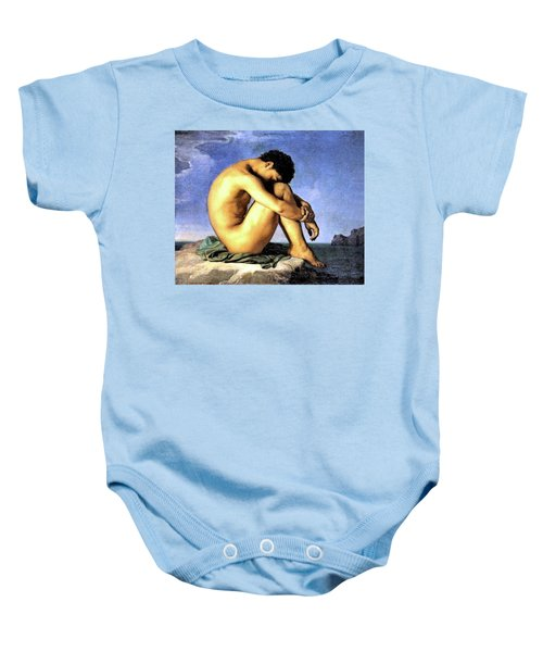 Young Man By The Sea Baby Onesie