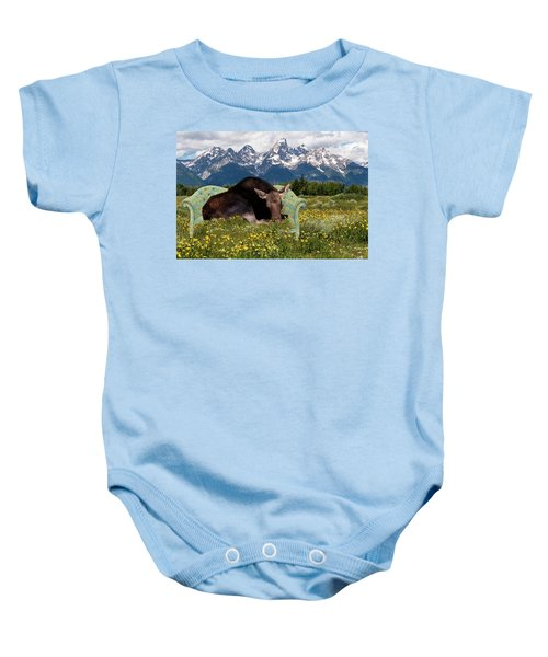 Nap Time In The Tetons Baby Onesie