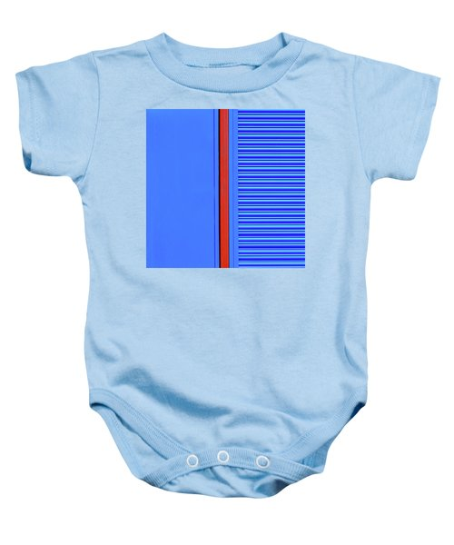 Blue With Red Stripe Baby Onesie