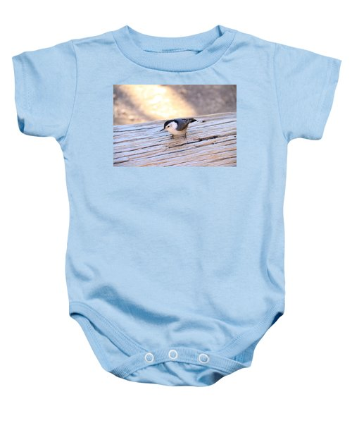 White Breasted Nuthatch Baby Onesie