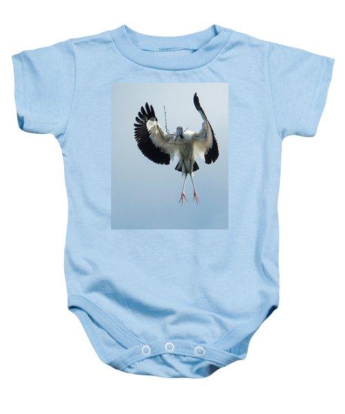 Woodstork Nesting Baby Onesie
