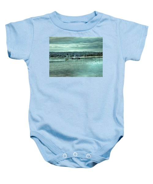Boats At Northport Harbor Baby Onesie