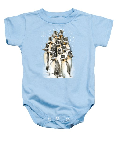 A Gathering In The Snow Baby Onesie