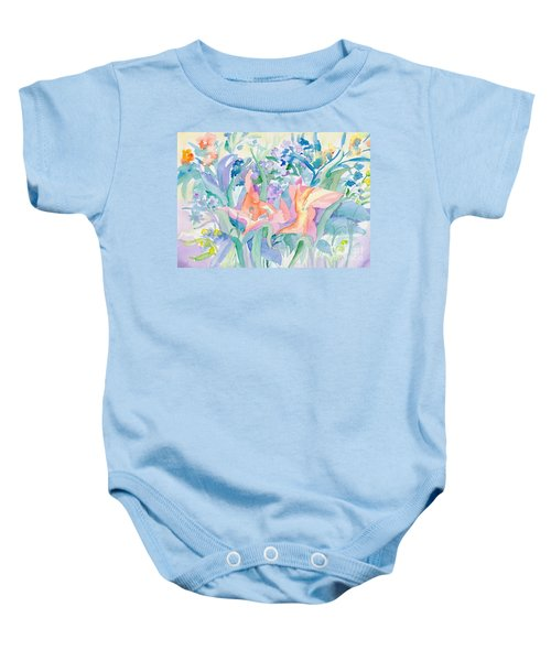 Abstract Lilies Baby Onesie