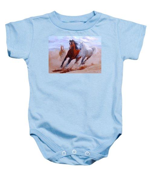 Adventurous Horses Baby Onesie