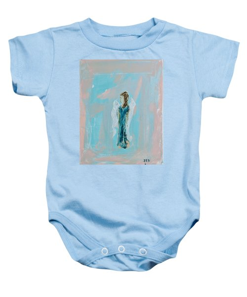 Angel With Character Baby Onesie
