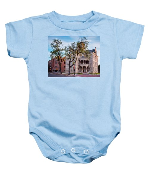 Architectural Photograph Of The Comal County Courthouse In Downtown New Braunfels Texas Hill Country Baby Onesie