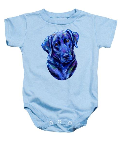 Colorful Black Labrador Retriever Dog Baby Onesie