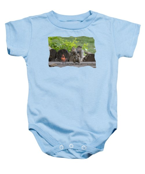 Backyard Squirrel Working Out With Trainer Baby Onesie