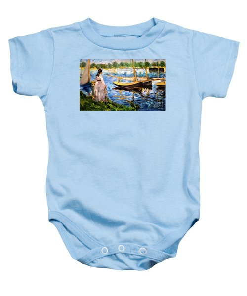 Banks Of The Seine At Argenteuil Baby Onesie