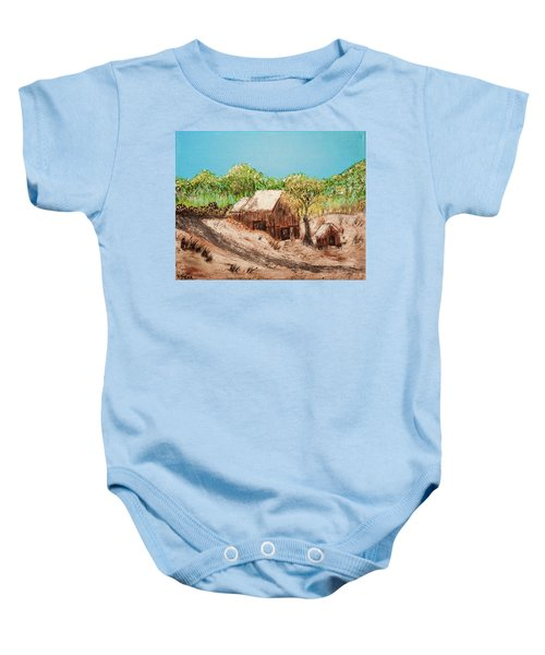 Barn On The Hill Baby Onesie