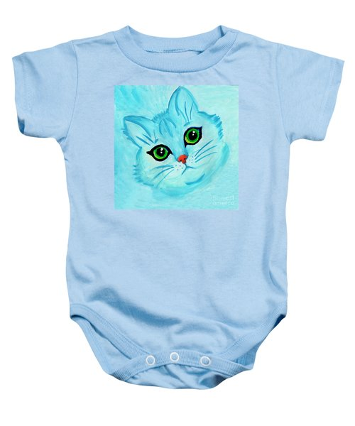 Blue Cat Baby Onesie