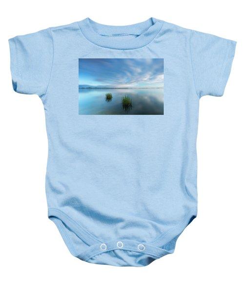 Blue Whirlpool Baby Onesie