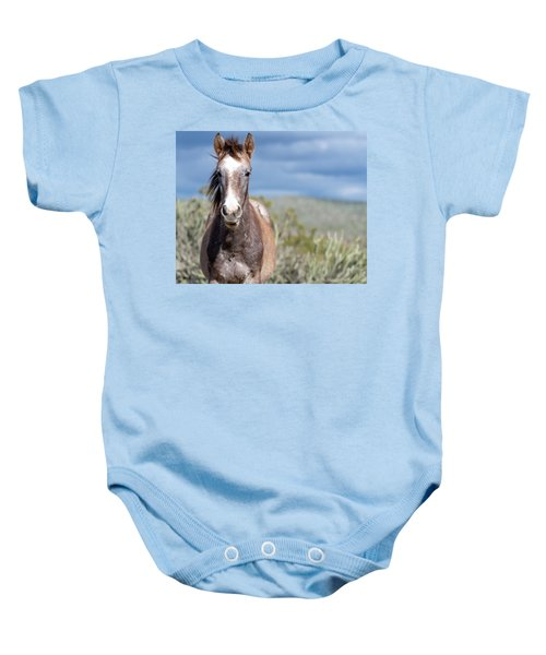 Baby Onesie featuring the photograph Cactus Cutie by Mary Hone