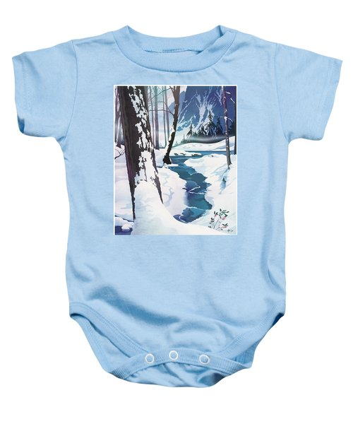 Morning At Christmas Creek Baby Onesie
