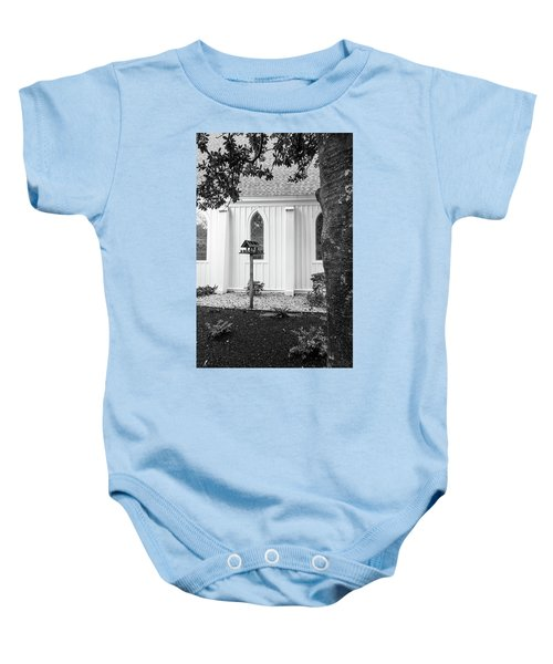 Church With Bird House Baby Onesie