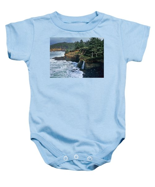 Cliffs Of Boiler Bay Baby Onesie
