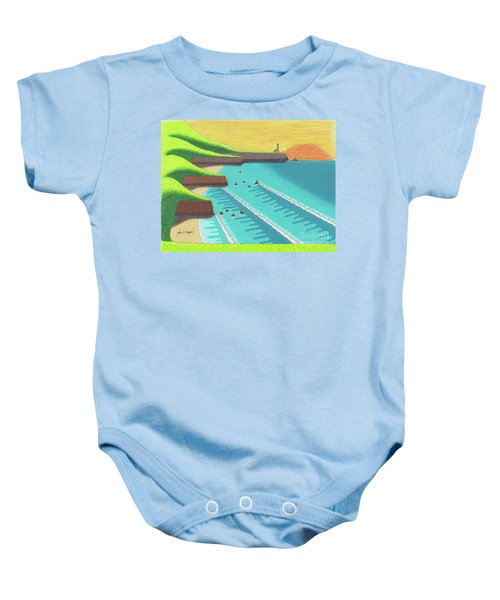 Cliffside Sunset  Baby Onesie