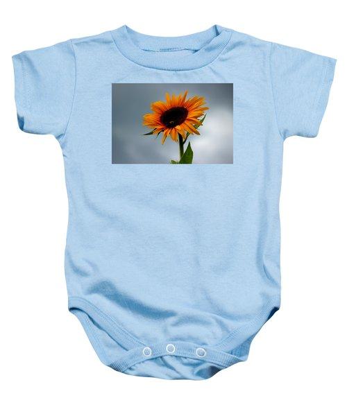 Cloudy Sunflower Baby Onesie