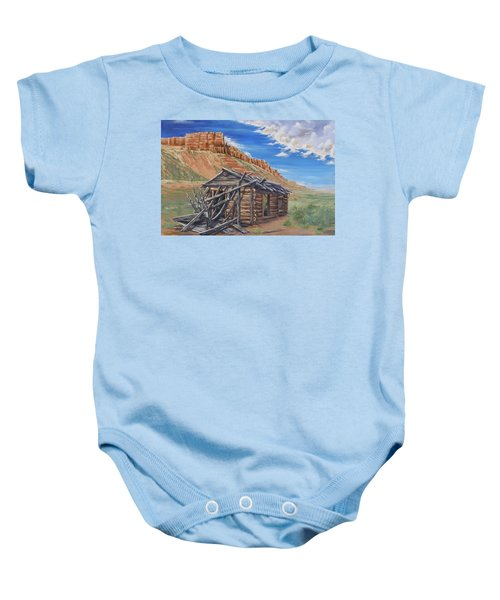 Colorado Prarie Cabin Baby Onesie