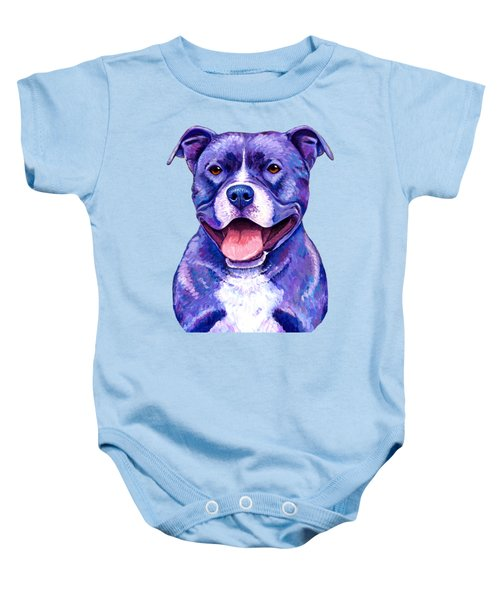 Colorful Pitbull Terrier Dog Baby Onesie